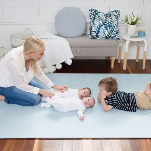 Large Scandi-Stars Play Mat - Powder Blue