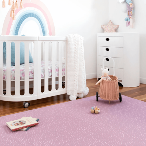 LARGE  S p e c k l e d  Play Mat - DUSTY PINK